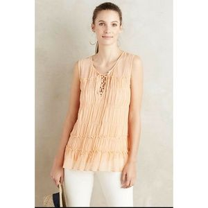 New Anthropologie Calla Lace-Up Tank Blouse Size 6